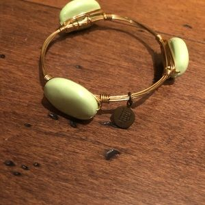 Bourbon and Bow ties green stone bracelet